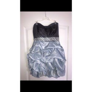 Blue & Gray Embellished Cocktail/Homecoming Dress